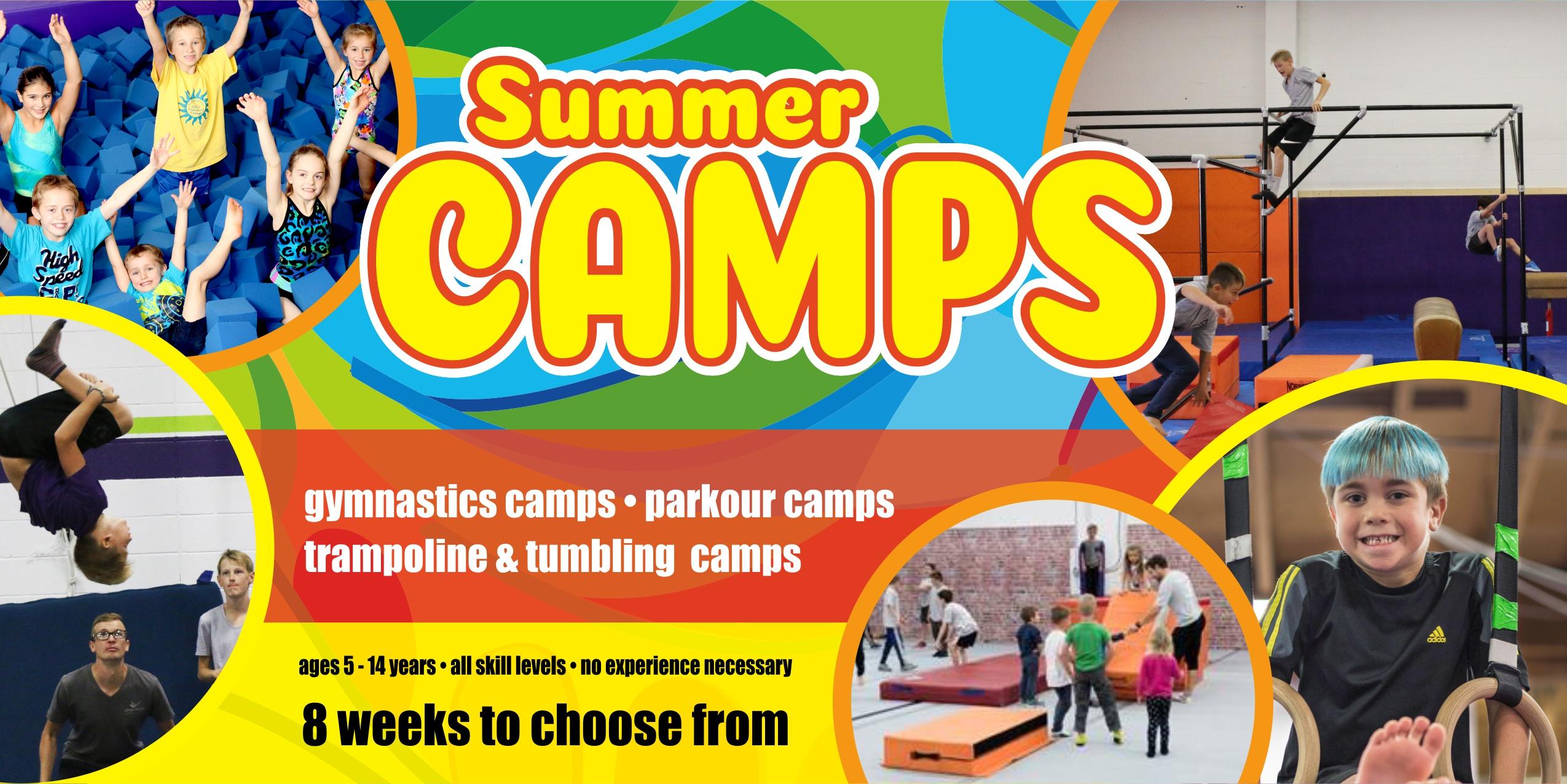 west kelowna gymnastics summer camps parkour trampoline